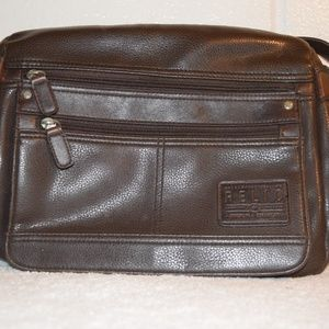 Womens brown leather Relic crossover purse handbag